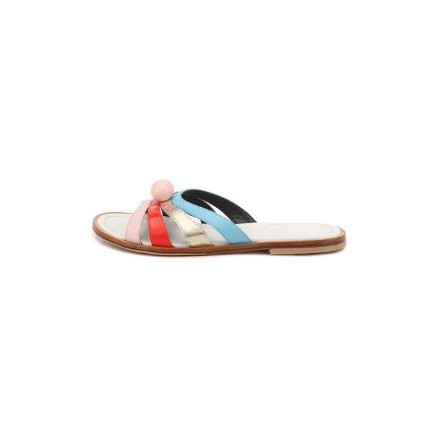 Marni | Разноцветный Кожаные шлепанцы Marni | Clouty