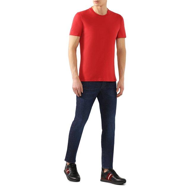 Brunello Cucinelli | Красный Хлопковая футболка Brunello Cucinelli | Clouty