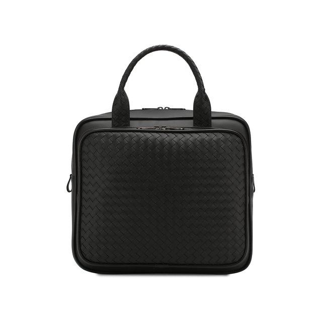 Bottega Veneta   Чёрный Кожаная дорожная сумка Bottega Veneta   Clouty