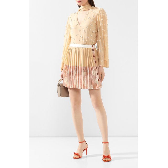 Ralph Lauren | Оранжевый Кожаные босоножки Ralph Lauren | Clouty