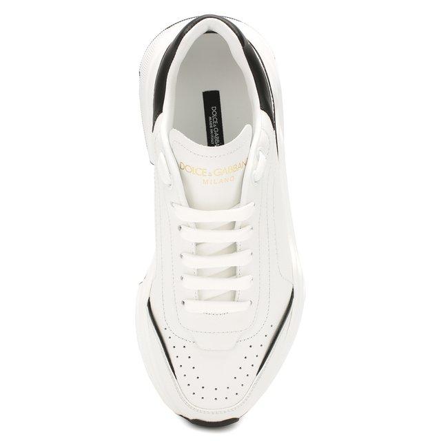 Dolce & Gabbana   Чёрно-белый Кожаные кроссовки Daymaster Dolce & Gabbana   Clouty