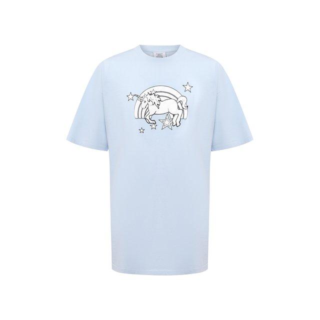 VETEMENTS | Синий Хлопковая футболка Vetements | Clouty