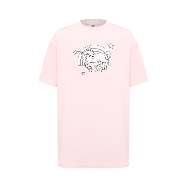 VETEMENTS   Розовый Хлопковая футболка Vetements   Clouty