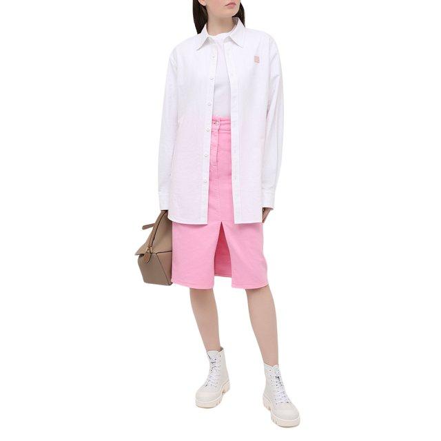 MSGM | Розовый Джинсовая юбка MSGM | Clouty