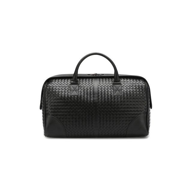 Bottega Veneta | Чёрный Дорожная сумка с плетением intrecciato Bottega Veneta | Clouty