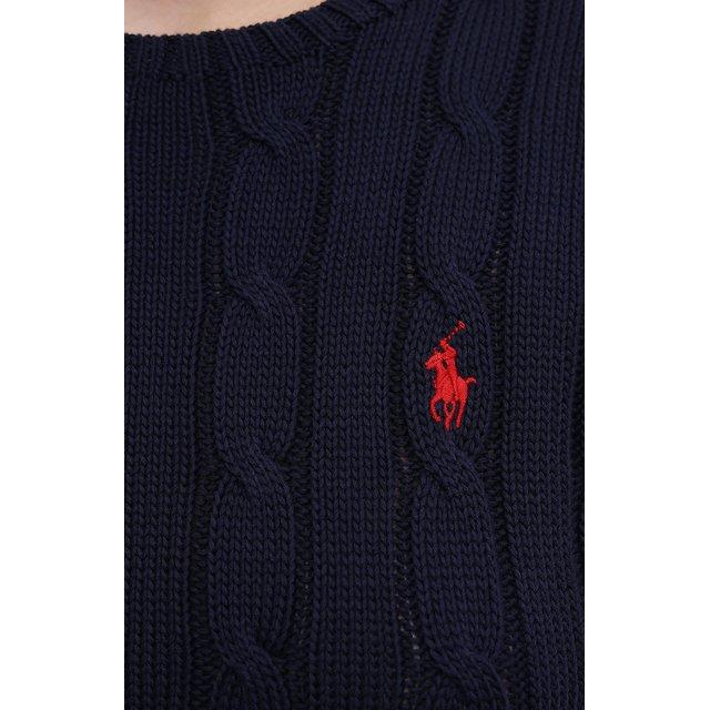 POLO RALPH LAUREN | Синий Хлопковый пуловер Polo Ralph Lauren | Clouty