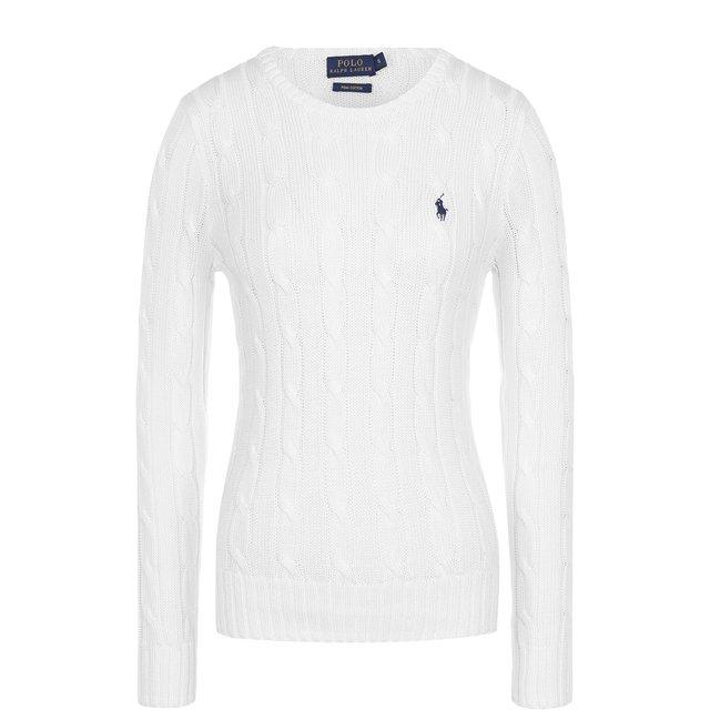 POLO RALPH LAUREN | Белый Хлопковый пуловер Polo Ralph Lauren | Clouty