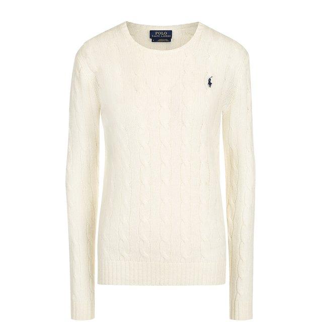 POLO RALPH LAUREN   Бежевый Шерстяной пуловер Polo Ralph Lauren   Clouty