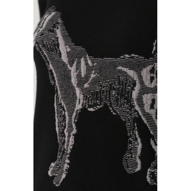 Giorgio Armani   Чёрный Кашемировый пуловер с принтом и укороченным рукавом Giorgio Armani   Clouty