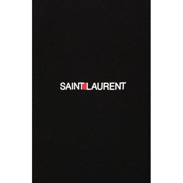 SAINT LAURENT   Чёрный Хлопковое худи Saint Laurent   Clouty