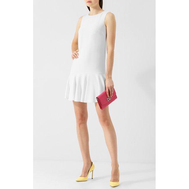 Dolce & Gabbana | Розовый Кожаный клатч на цепочке Dolce & Gabbana | Clouty