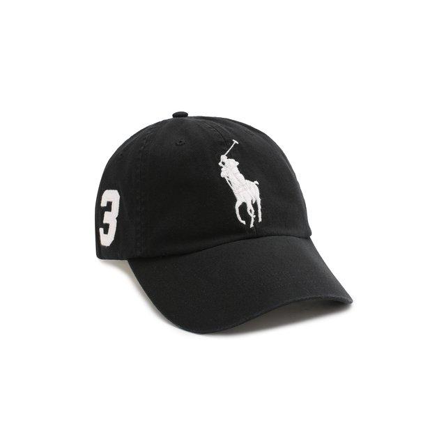 POLO RALPH LAUREN | Чёрный Хлопковая бейсболка Polo Ralph Lauren | Clouty