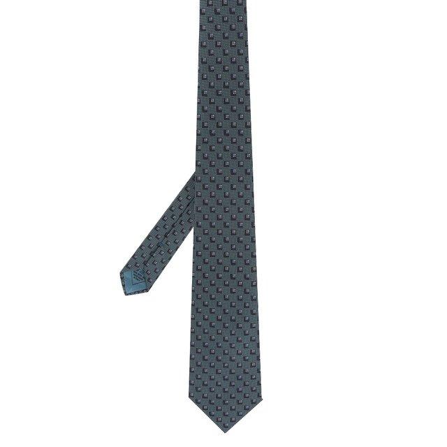 Brioni | Зелёный Шелковый галстук Brioni | Clouty