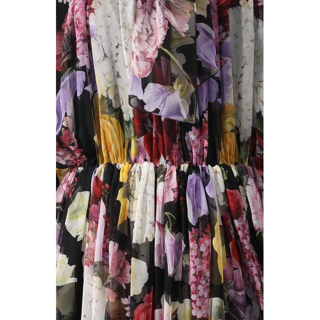 Dolce & Gabbana | Фиолетовый Шелковое платье Dolce & Gabbana | Clouty