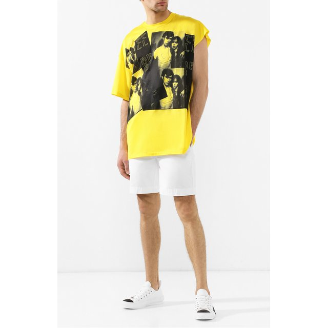 Raf Simons | Жёлтый Хлопковая футболка Raf Simons | Clouty