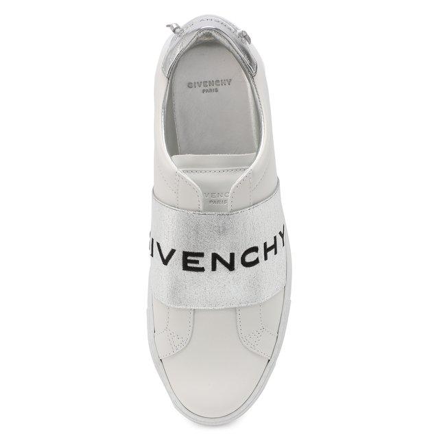GIVENCHY   Серебряный Кожаные кеды Urban Street Givenchy   Clouty