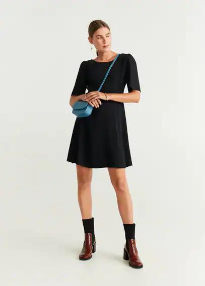 MANGO | Короткое платье с поясом - Jaipur | Clouty