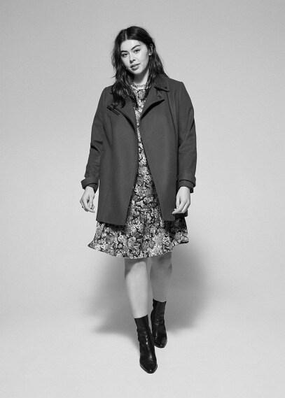 MANGO | Структурированное пальто из шерсти - Electri6 | Clouty
