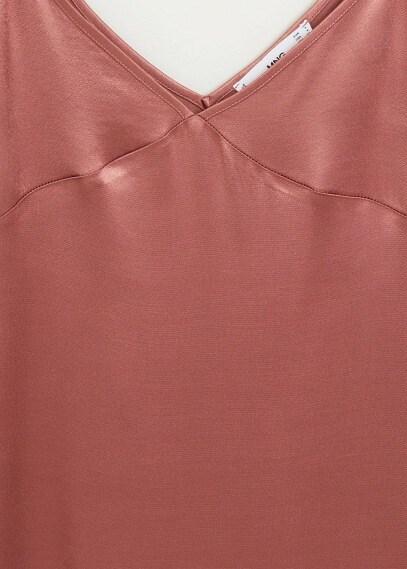 MANGO | Длинное платье с атласным блеском - Sophia-x | Clouty