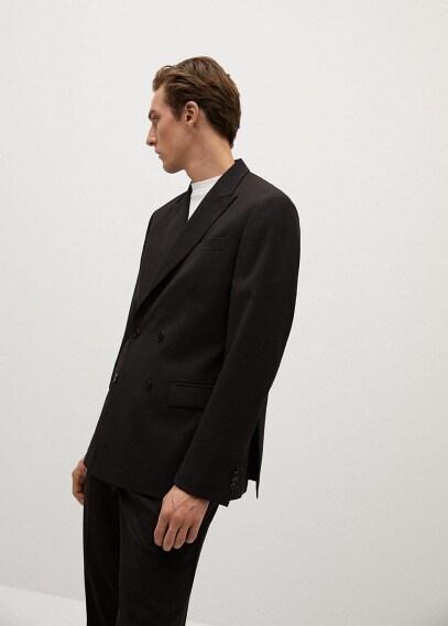 MANGO | Шерстяной пиджак с запахом - Paris | Clouty