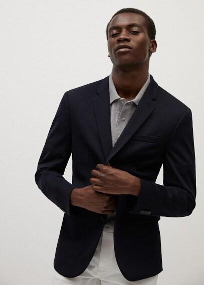 MANGO | Пиджак super slim fit из технологичной ткани - Fabre | Clouty