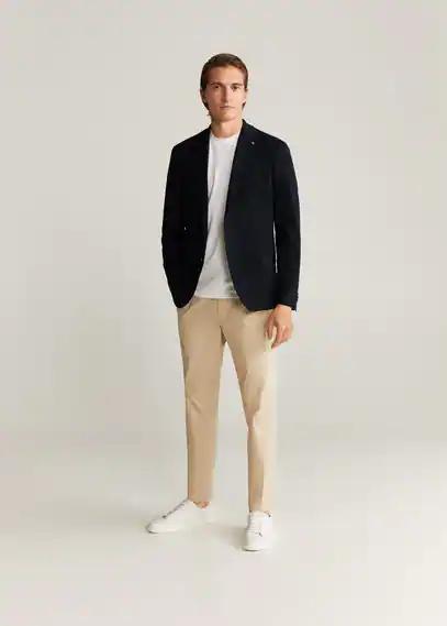 MANGO | Фактурный приталенный пиджак - Punto | Clouty