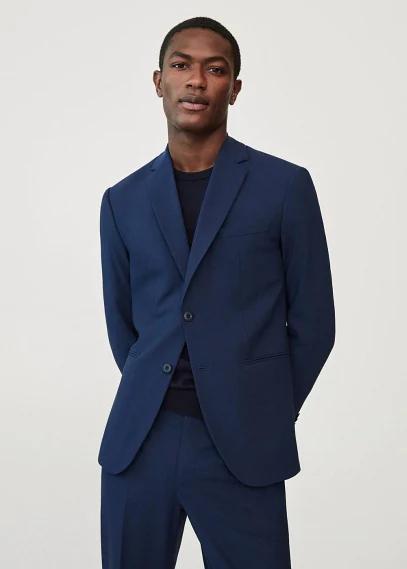 MANGO   Костюмный пиджак slim fit из шерсти - Travel   Clouty