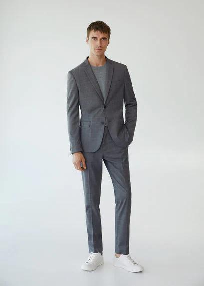 MANGO | Костюмный пиджак super slim-fit в клетку - Paulo | Clouty