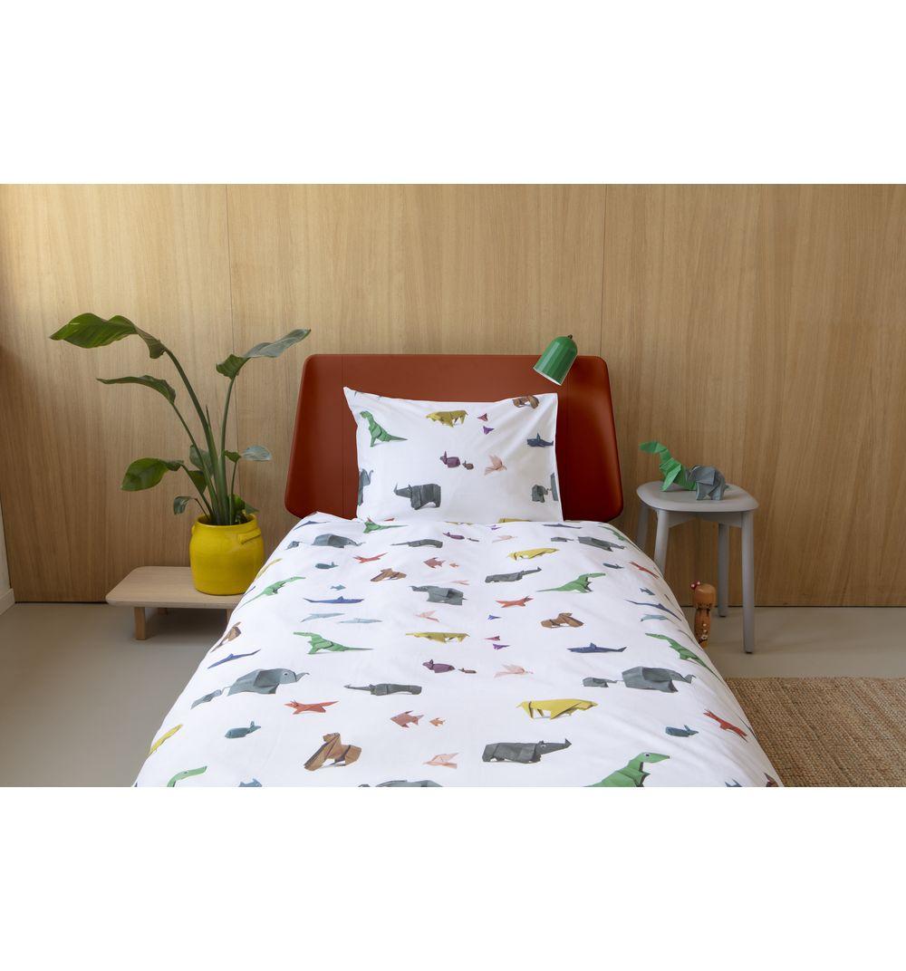 Snurk   Комплект постельного белья Snurk Бумажный зоопарк, цвет: желтый/белый   Clouty