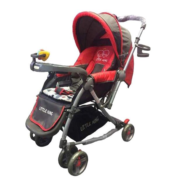 Little King   Прогулочная коляска Little King LK- 216, цвет: красный   Clouty