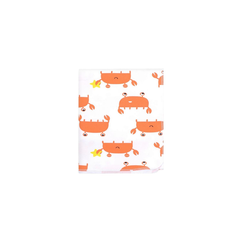Crockid | Crockid Пеленка Крабы 87 х 100 см, цвет: белый | Clouty