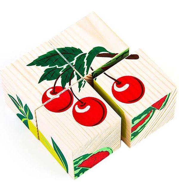 Томик   Кубики Томик Фрукты-ягоды (4 штуки)   Clouty