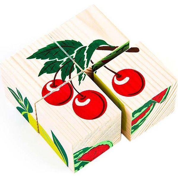 Томик | Кубики Томик Фрукты-ягоды (4 штуки) | Clouty