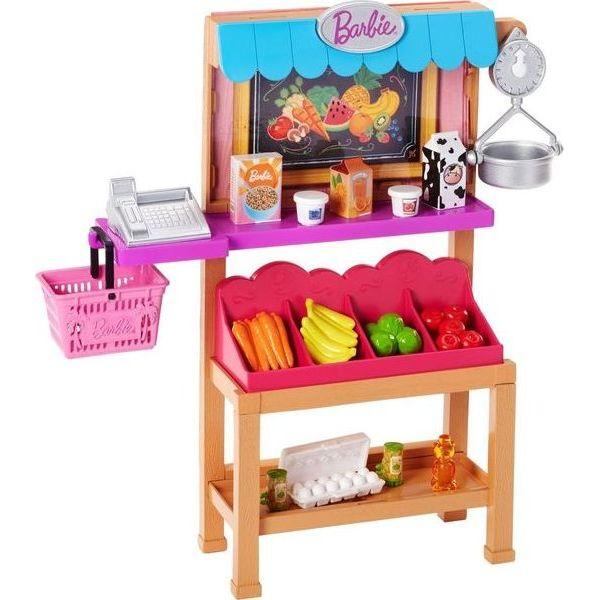 Barbie | Игровой набор Barbie Кем быть? Киоск с продуктами | Clouty