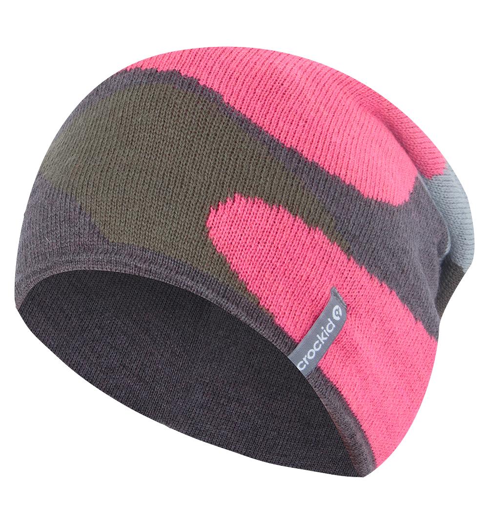 Crockid | Шапка Crockid, цвет: серый/розовый | Clouty