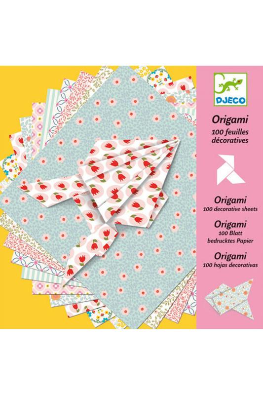 Djeco | Розовый, жёлтый Оригами (100 листов) Djeco | Clouty