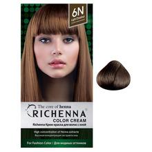 Фото Richenna Крем-краска для волос с хной Medium Brown