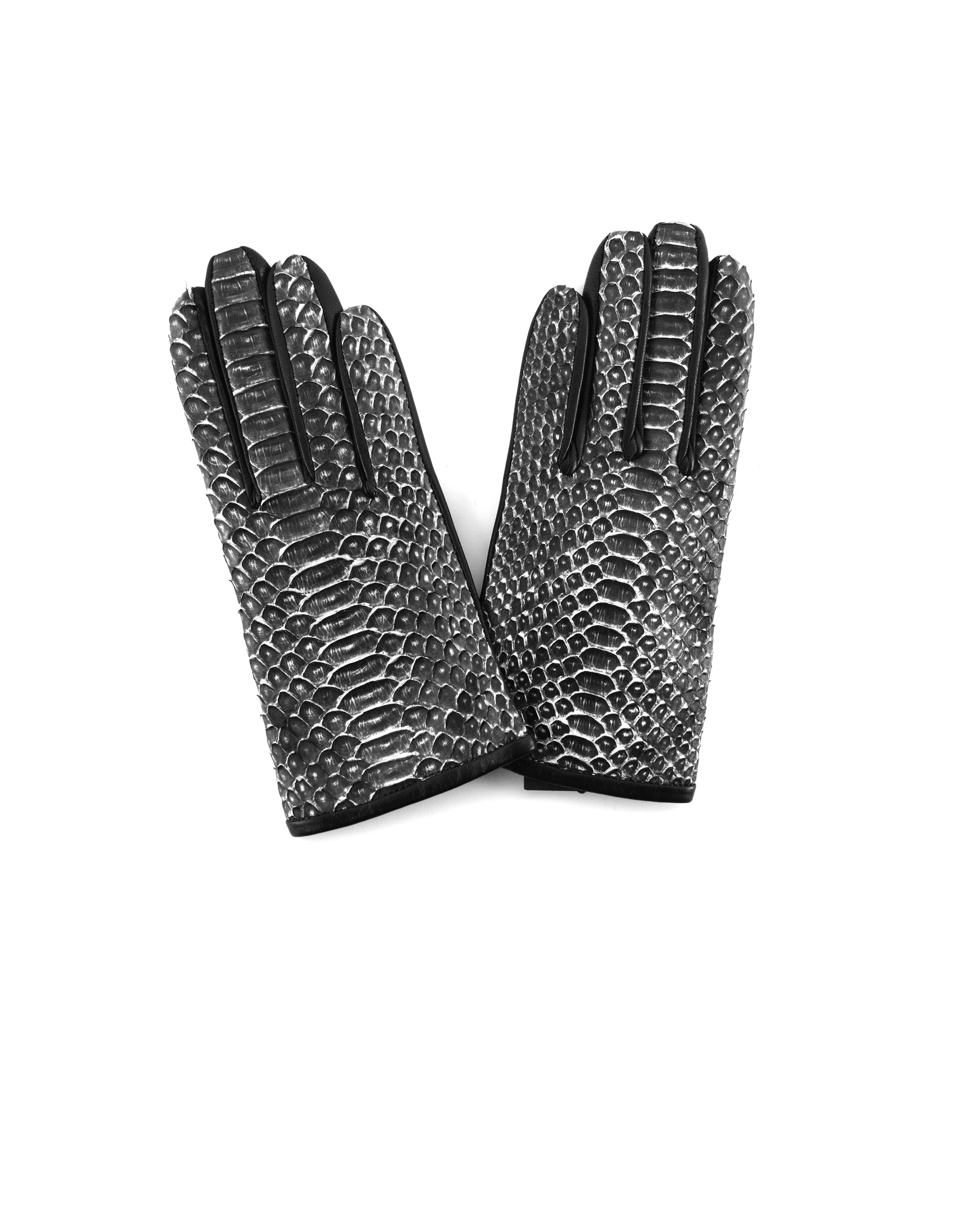 Haider Ackermann | Перчатки из кожи питона | Clouty