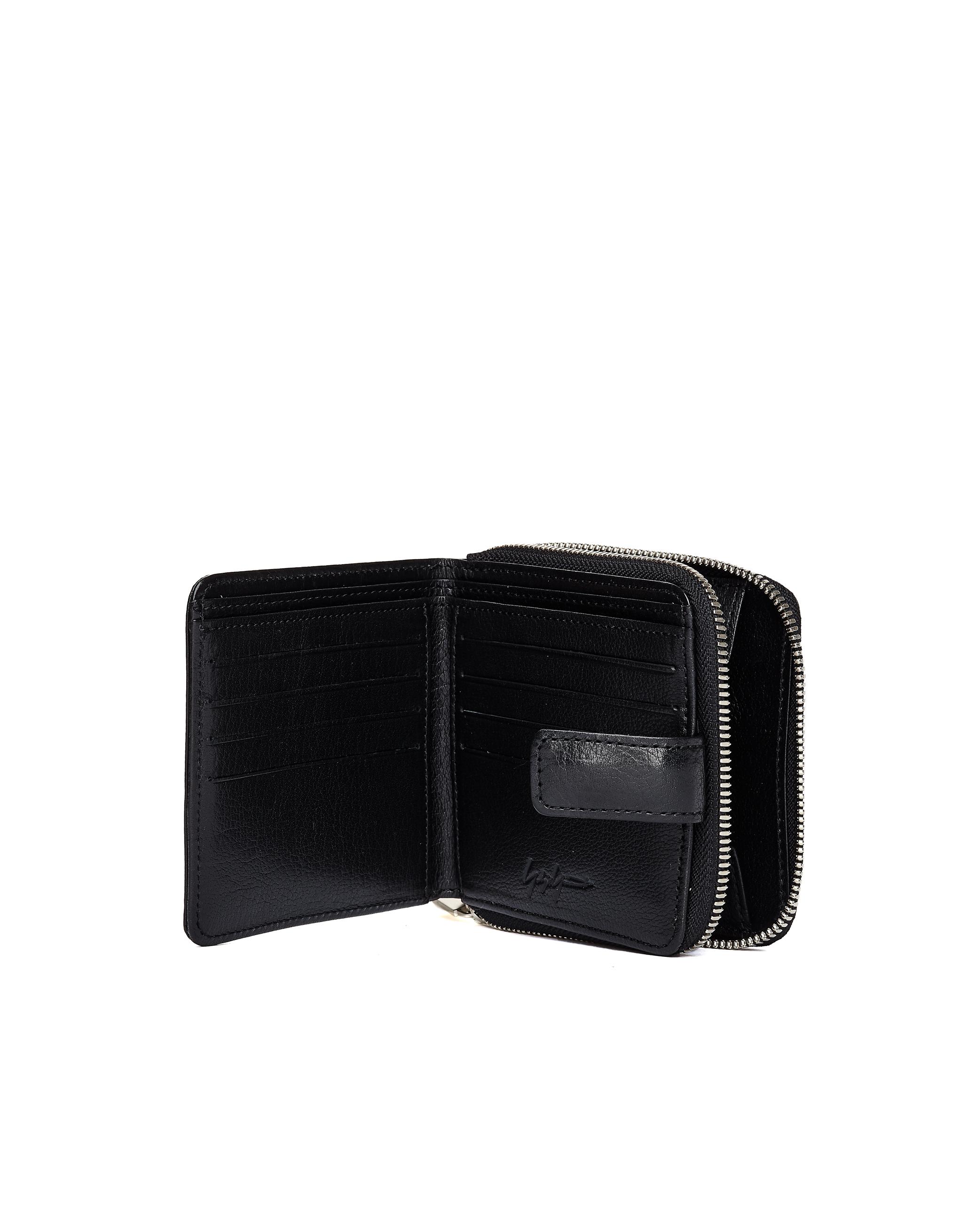 YOHJI YAMAMOTO | Черный кожаный кошелек | Clouty