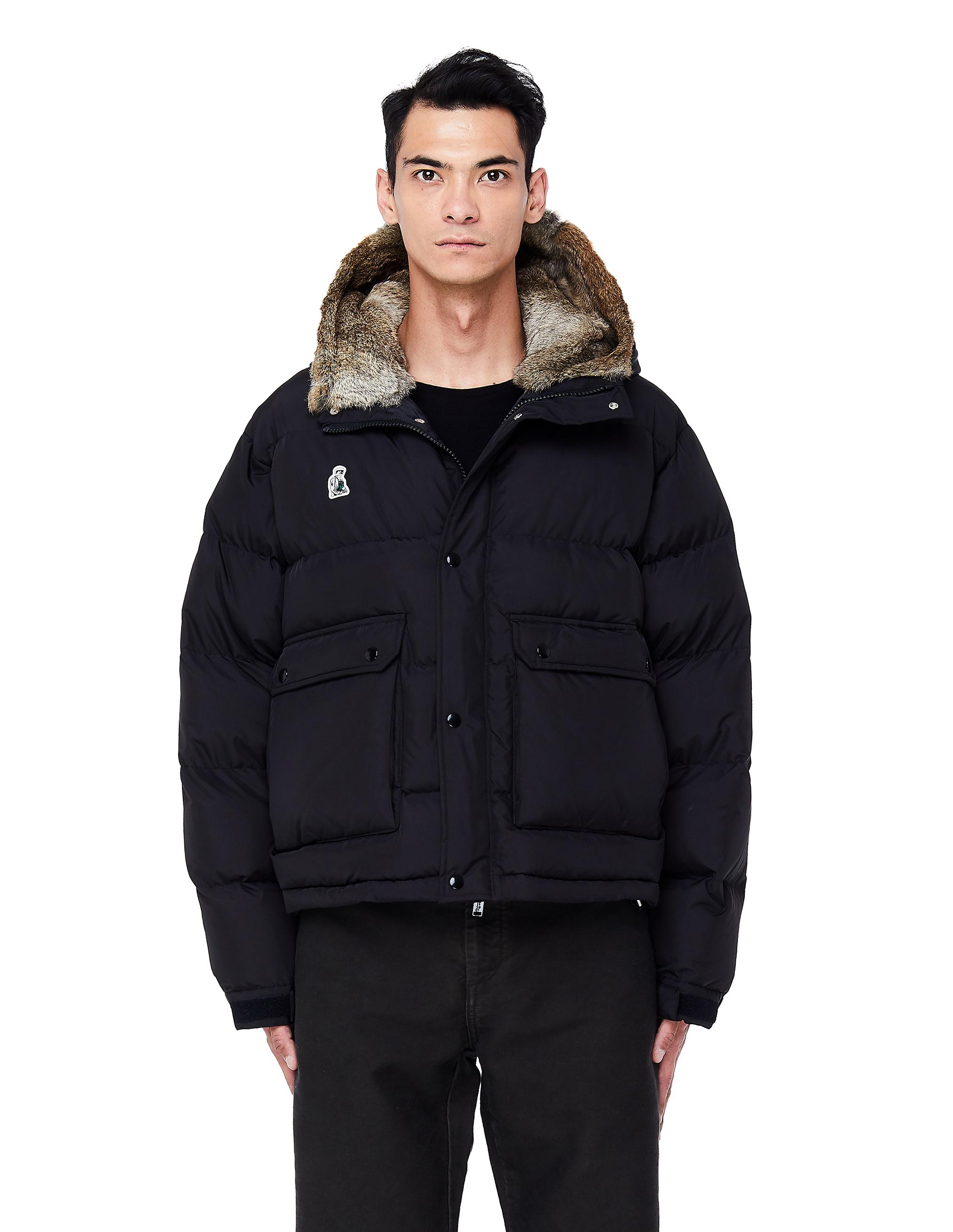 UNDERCOVER | Черный пуховик с вышивкой | Clouty