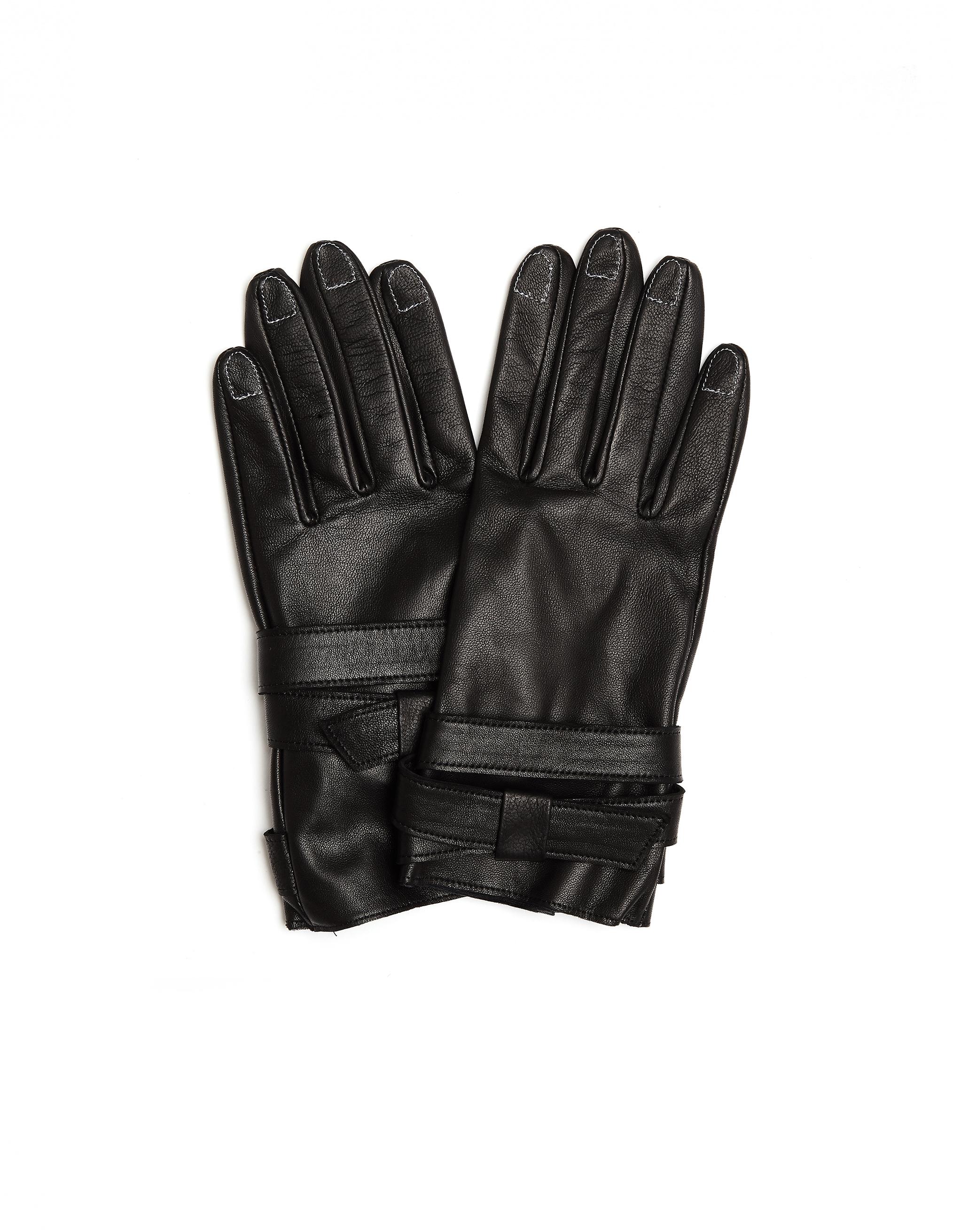 YOHJI YAMAMOTO   Кожаные перчатки с контрастными швами   Clouty