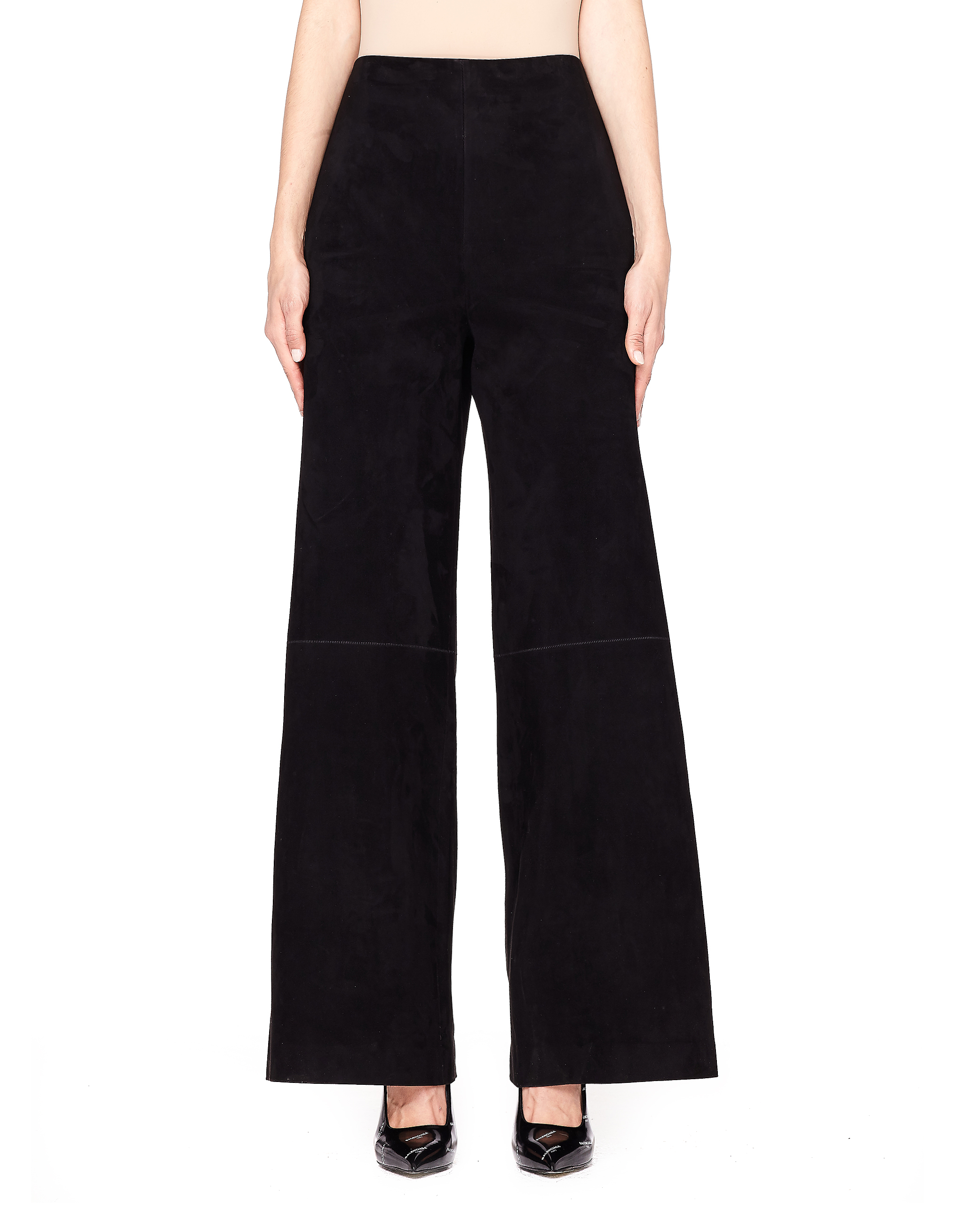 The Row | Черные замшевые брюки | Clouty