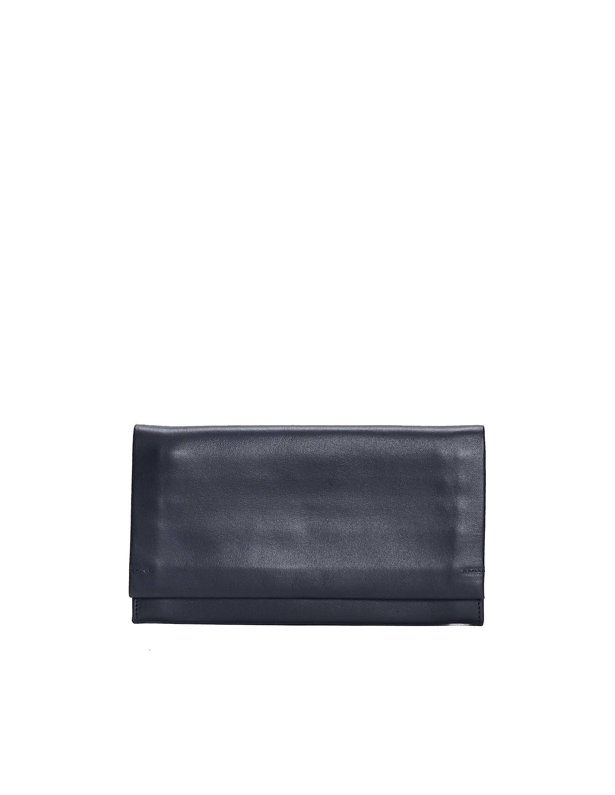 Isaac Reina | Черный кожаный кошелек с плечевым ремешком | Clouty
